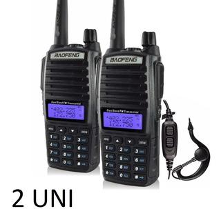 Kit2 Rádio Comunicador Baofeng Uv-82 Dual Band Rádio Fm