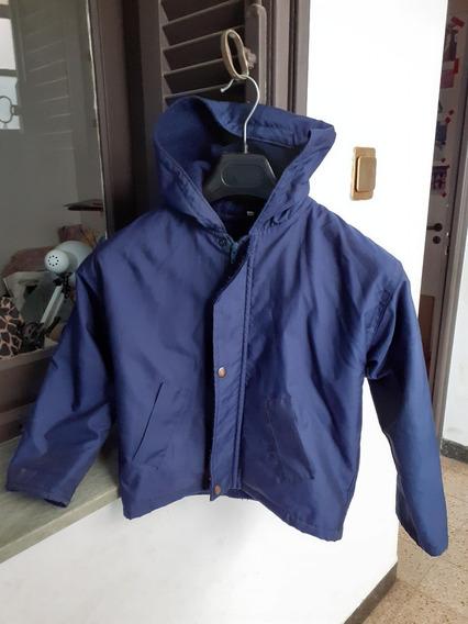 Campera Abrigo Unisex Impermeable C/polar-capucha Ideal Cole