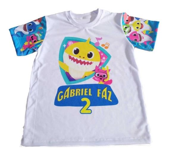 Camiseta Infantil Baby Shark Personalizada