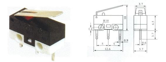 20 Peças - Interruptor Micro Switch Chave Fim Curso Kw10b