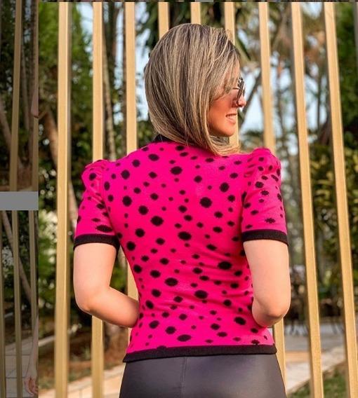 Vestido Midi Justo Tubinho Estampado Listrado Listras Fenda Póa Bolinha Lápis Social Manga Curta Trico Tricot Moda