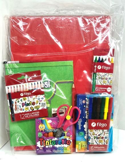 Kit Escolar Utiles Jardin 16 Articulos Embolsados Cod22