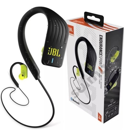 Fone De Ouvido Bluetooth Jbl Endurance Sprint Preto Amarelo