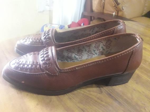 Zapatos Mocasines De Cuero Dama