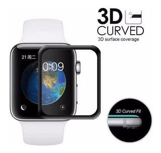 Pelicula De Vidro 3d P/relogio Apple Watch Tam 38, 40, 44 Mm
