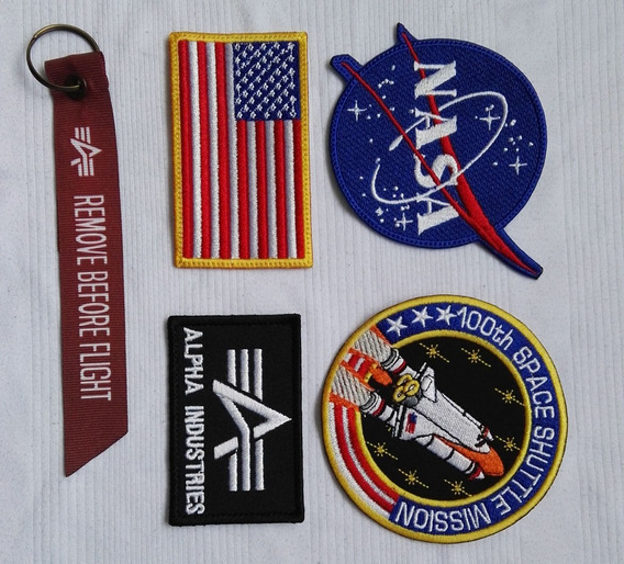 Kit Parches Y Escudos Bordados Nasa Alpha Astronauta Usa