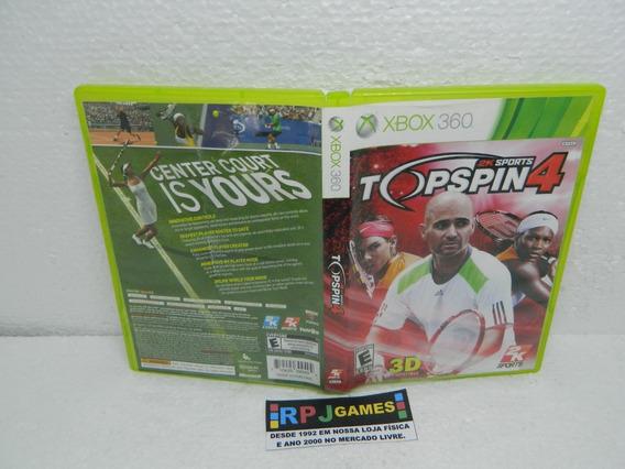 Top Spin 4 Original Midia Fisica Completa Xbox 360 - Loja Rj