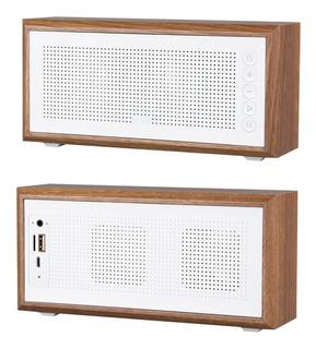 Parlante Bluetooth Mtk Vintage Madera 10w Portatil Sd Radio