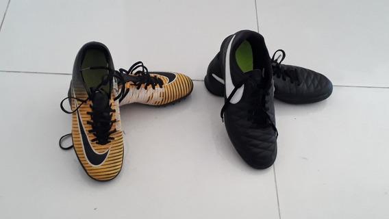 2 Chuteira Da Nike Original A Listrada E 38 E A Preta 40