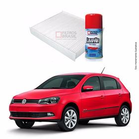 Kit Filtro Ar Condicionado Higienizador Vw Gol G6 14/...