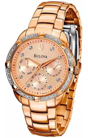 Relogio Bulova Wb27734z Diamond Feminino Exclusivo