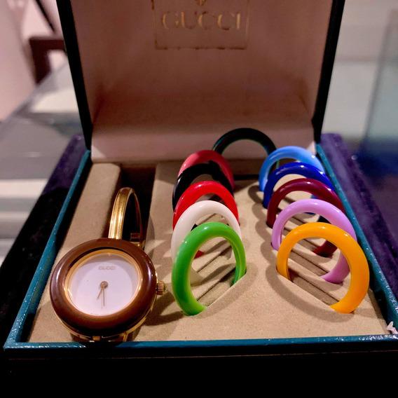 Relógio De Ouro Gucci 11/12.2 Interchangeable