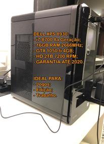 Computador Dell Xps 8930 Gamer I7-8700 16gb Gtx 1050 Ti