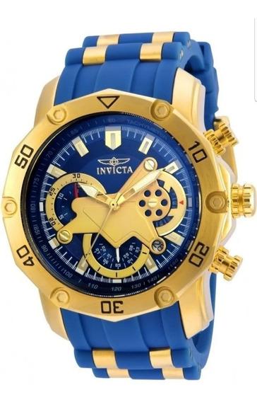 Relógio Invicta Pro Diver Scuba 50mm 22798 Banhado A Ouro