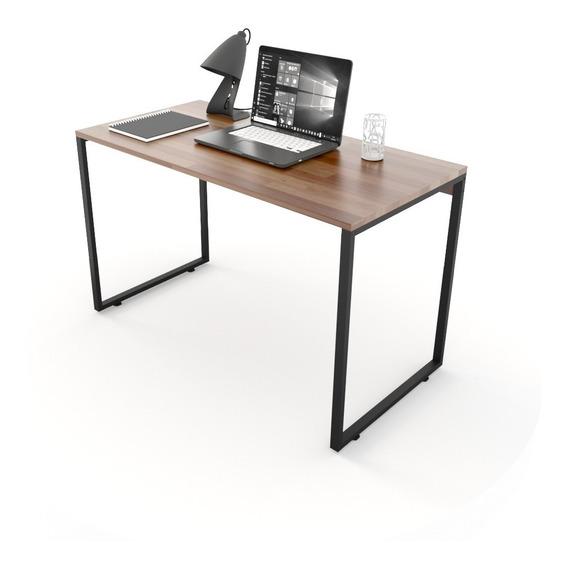 Mesa Para Escritório Diretor Estilo Industrial 120cm Madeira