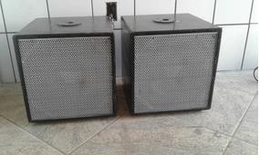 2 Caixas De Sub Grave 12 Polegadas Bass Reflex