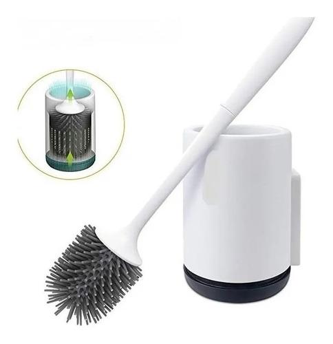 Imagen 1 de 4 de Cepillo Escobilla Para Inodoro De Cerdas De Silicon