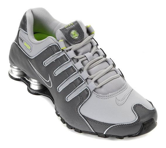 Tenis Nike 378341 09/2019 Shox Nz Cinza/chumbo