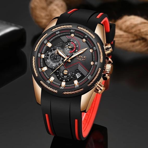 Relógio Masculino Quartz De Luxo À Prova D