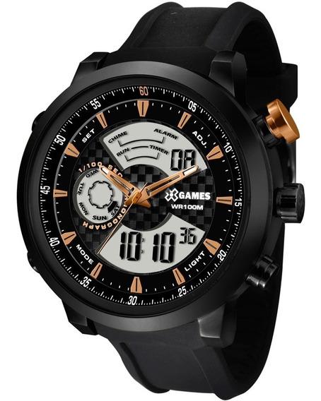 Relógio X Games Black Xmspa017 P2px Masculino Preto Original
