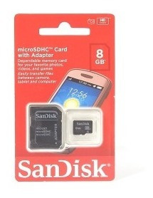 Kit 5 Pçs - Cartão Micro Sd Sandisk 8gb Com Adaptador