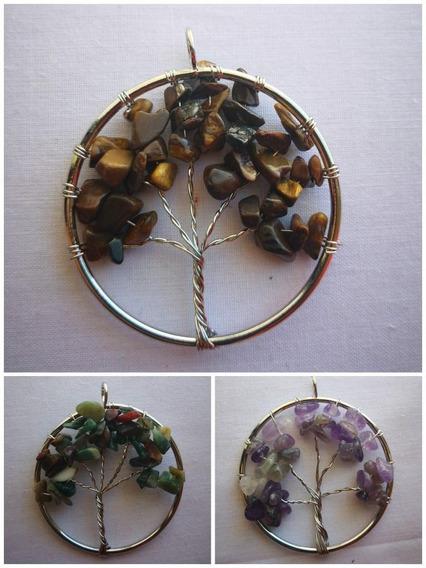 Dije Árbol De La Vida De Cuarzo Sanación Chakras Amuleto