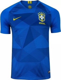 Camisa Brasil Azul Nike Cbf 2018 Oficial Masc Frete Grátis