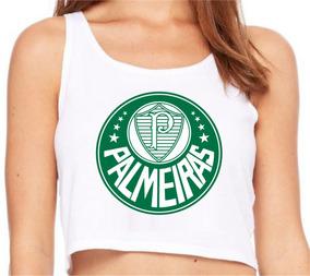 Palmeiras Times Regata Cropped Roupas Femininas Moda Barato!