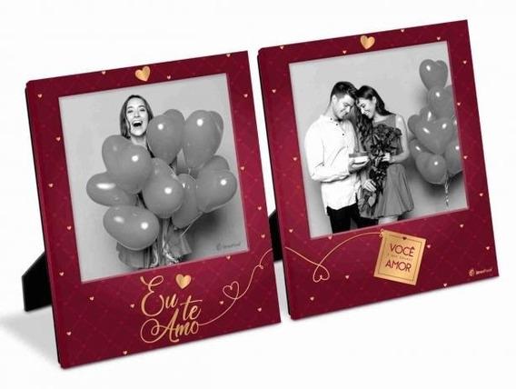 Porta Retrato Duplo Eu Te Amo Foto 10x10 Cm