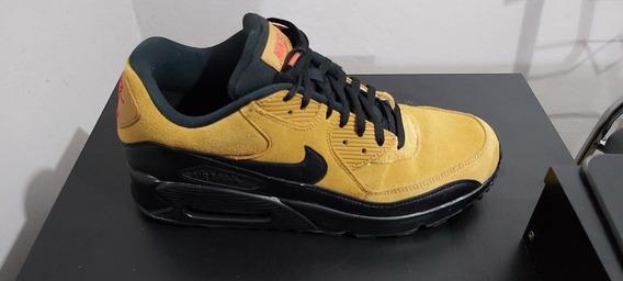 Tênis Nike Air Max 90 Marrom-claro E Preto Original