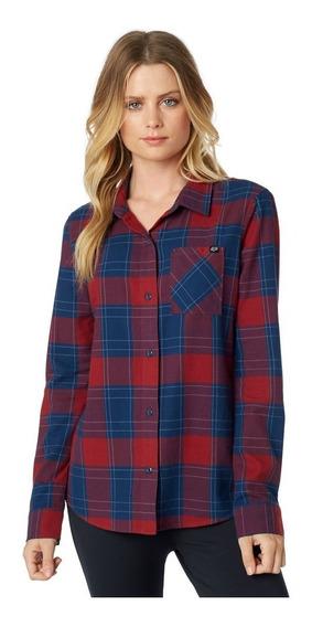 Camisas Mujer Importadas Fox Kick It Ls Flannel Bora Bikes