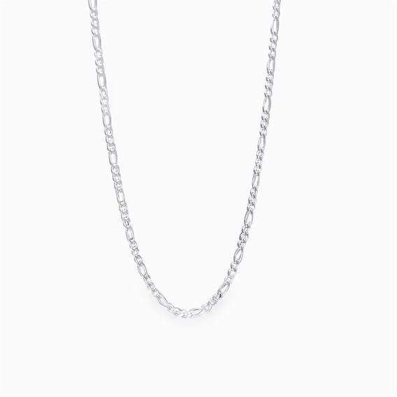Corrente 3 X 1 Com 60cm Em Prata 925 - 2.6grs