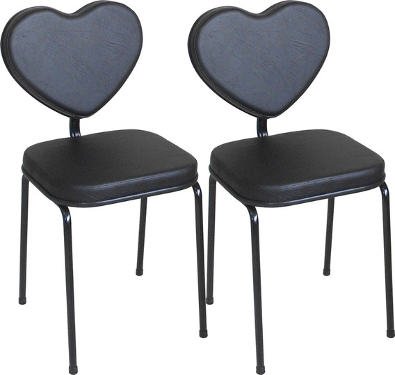 Cadeira Cliente Manicure Mod Love = 2 Unidades