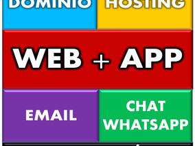 Página Web + App: Todo Incluido. Chat Whatsapp. Sin Abonos
