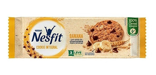 Biscoito Cookies Integral Nesfit Banana 60gr Nestle