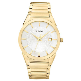 Relógio Bulova Masculino Slim Dourado - Wb21605h