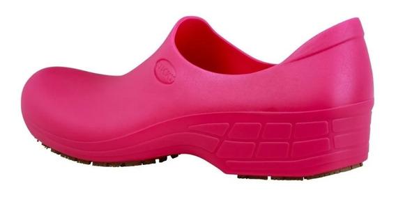 Sapato Antiderrapante Sticky Shoe Hospital/cozinha Nr32 Pink