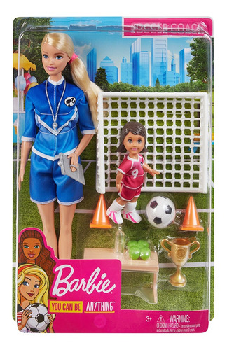 Imagen 1 de 3 de Barbie Maestra De Futbol