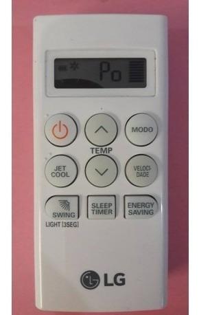 Controle Remoto Ar Condicionado Lg Usado C/ Manchas No Visor