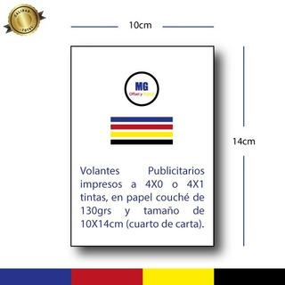 Volantes Publicitarios Flyer 1/4 Carta Frente Color