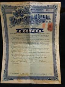 Titulo Capitalização Aliança Da Bahia S.a. 1935