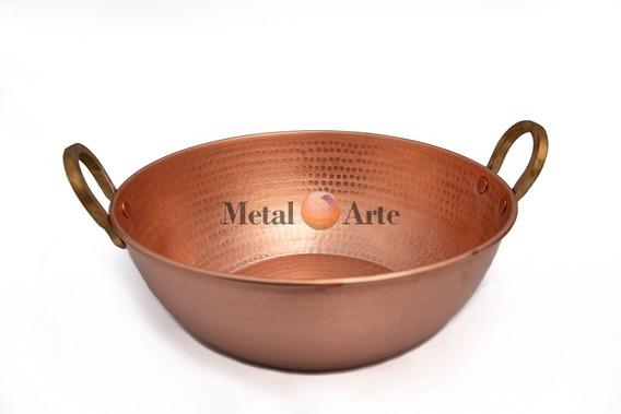 Tacho De Cobre Puro Com Alças Em Liga De Bronze 10 Litros