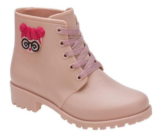 Bota Lolo Feminina Infantil Botinha Menina Minipasso Pink