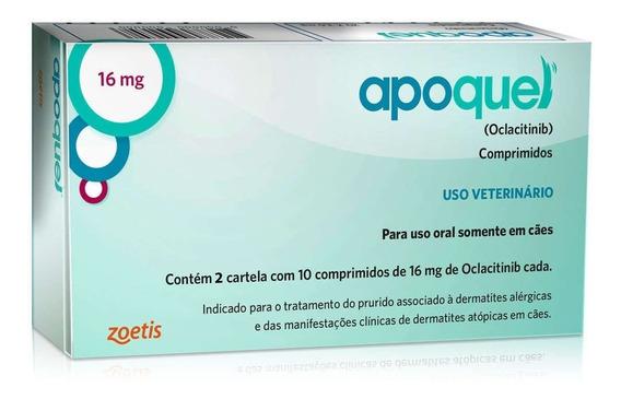 10 Comprimidos Apoquel 16mg Zoetis Para Cães