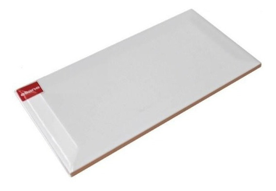 Azulejo Biselado 10 X 20 Cm Blanco Brillante Eliane