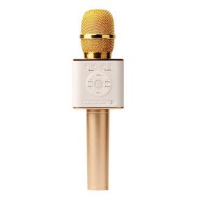 Q9 Handheld Sem Fio Bluetooth Karaoke Microfone Alto-falante