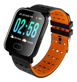 Relógio Inteligente Pressão Arterial Monitor Cardíaco Sono Pedômetro Digital Cronometro App