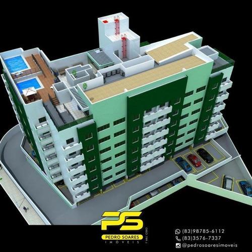 Apartamento Com 2 Dormitórios À Venda, 56 M² Por R$ 208.000 - Mandacaru - João Pessoa/pb - Ap3317