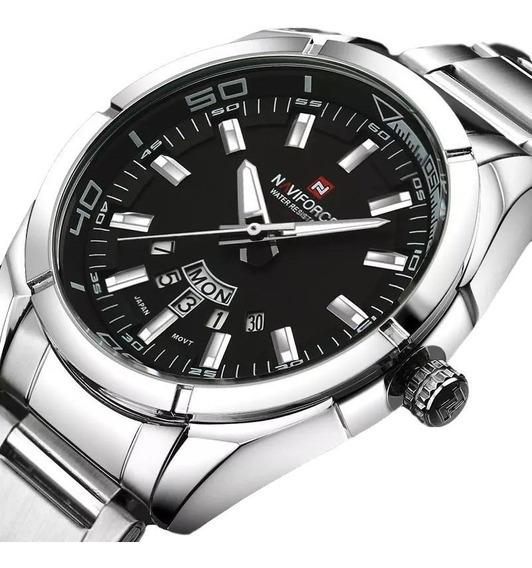 Relógio Masculino Naviforce Esportivo Nf9038 Prata