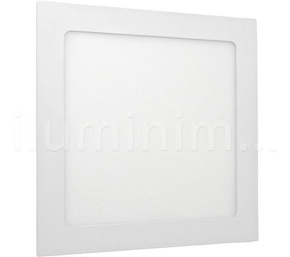 Painel Plafon Luminaria 18w Led Quadrado Ultra 6000k Embutir